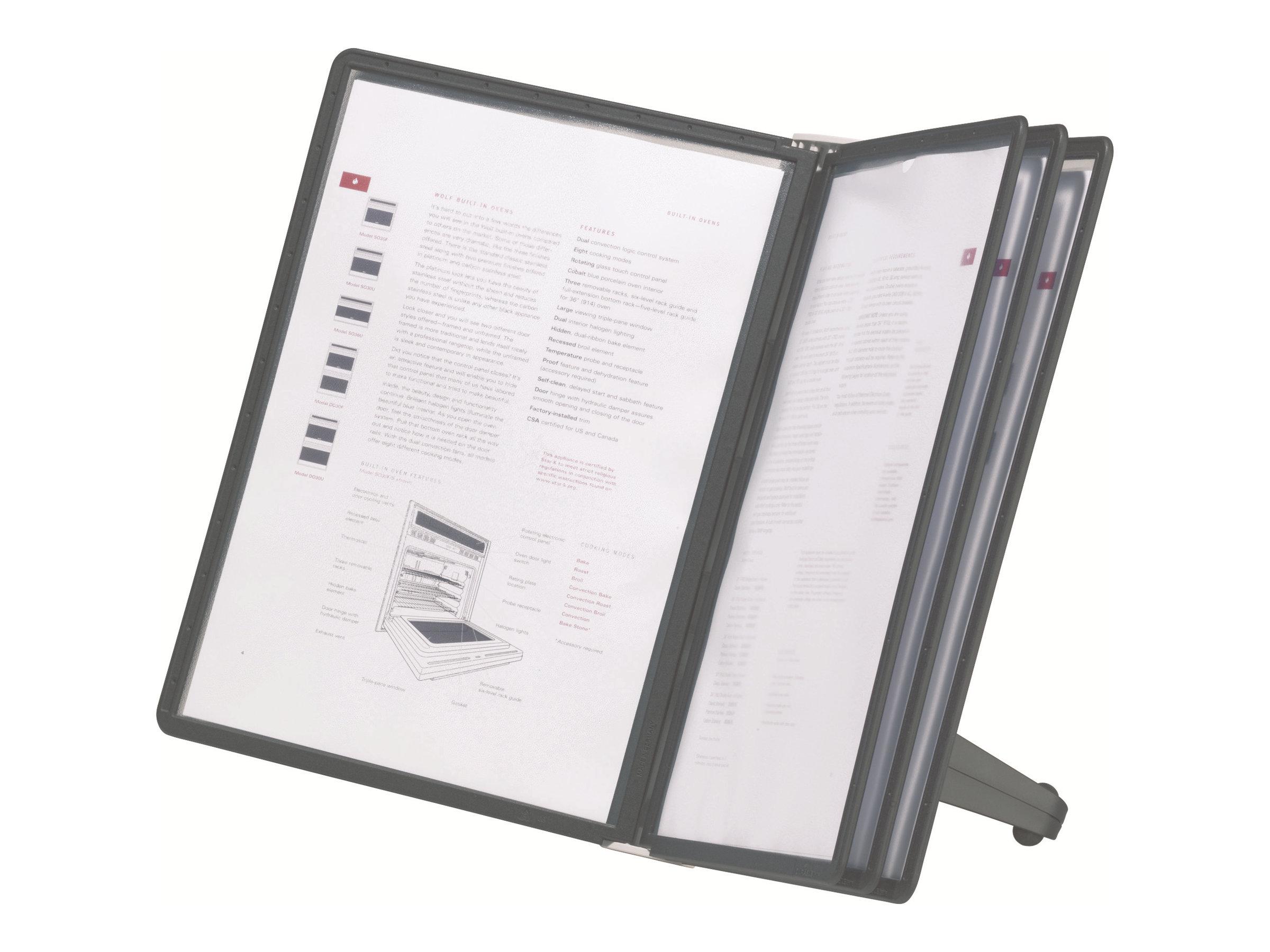 Durable Sherpa - Pupitre de table (lutrin) avec 5 pochettes A4