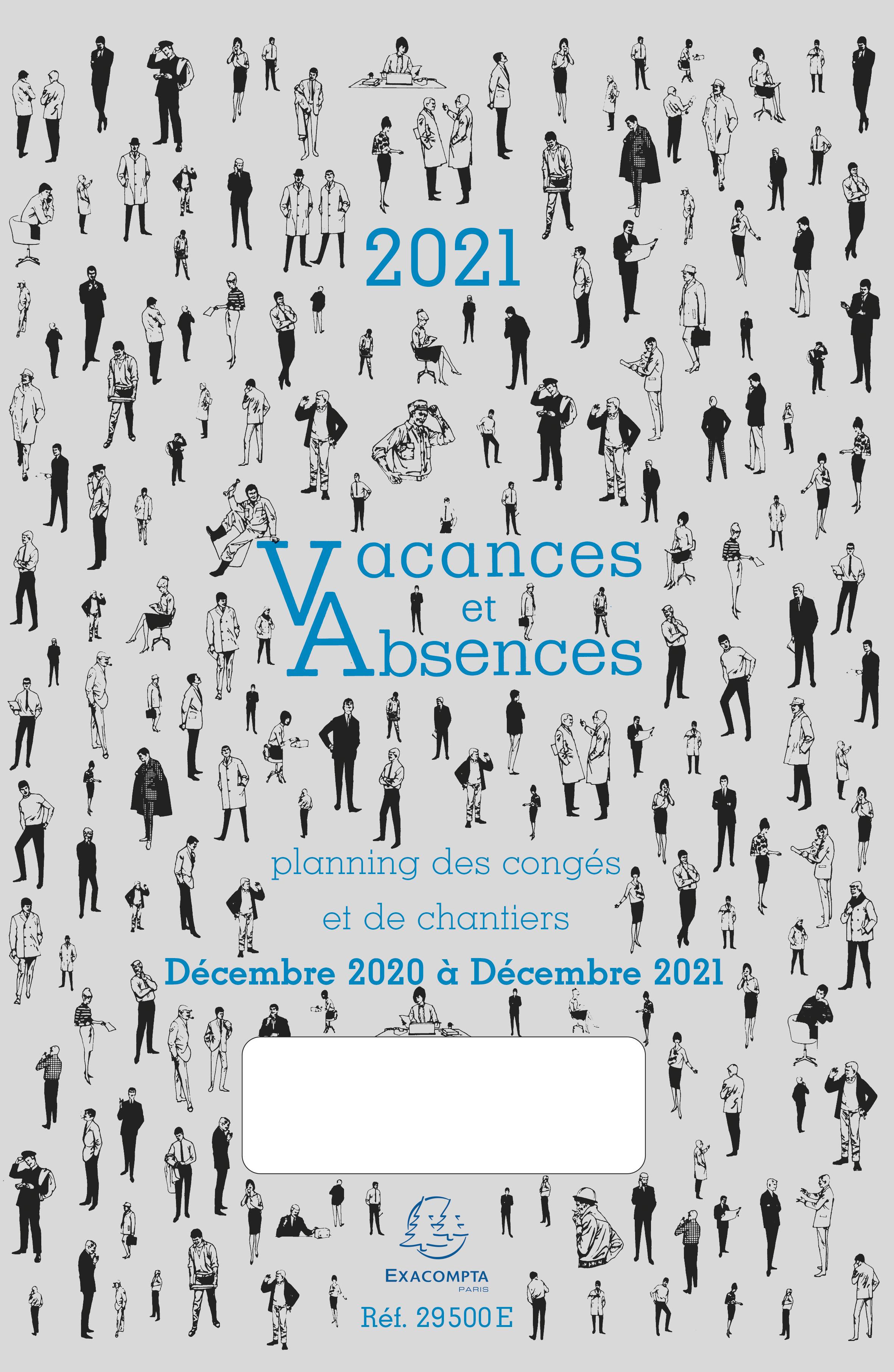 Exacompta - Planning des congés et des absences - Décembre à décembre - 20 x 29,7 cm