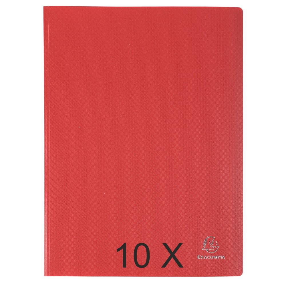 Exacompta Opak - 10 Porte vues - 80 vues - A4 - rouge