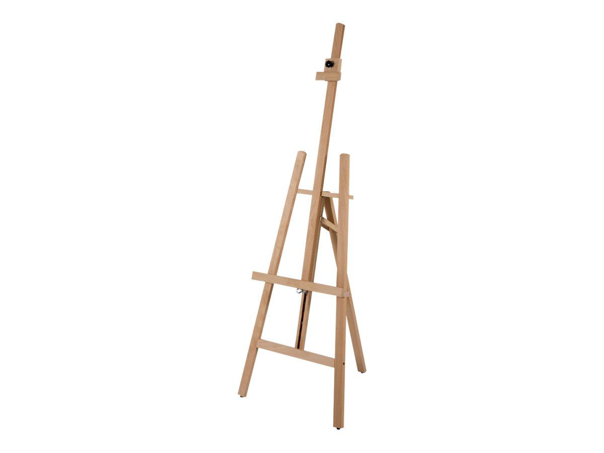 Promocome - Chevalet de présentation en bois - hauteur et inclinaison réglable - 60 x 153 cm
