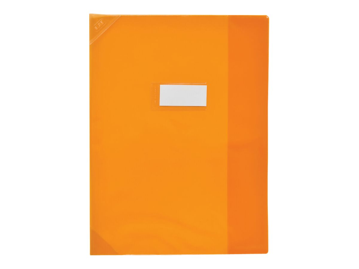 Oxford School Life - Protège cahier - 24 x 32 cm - orange translucide