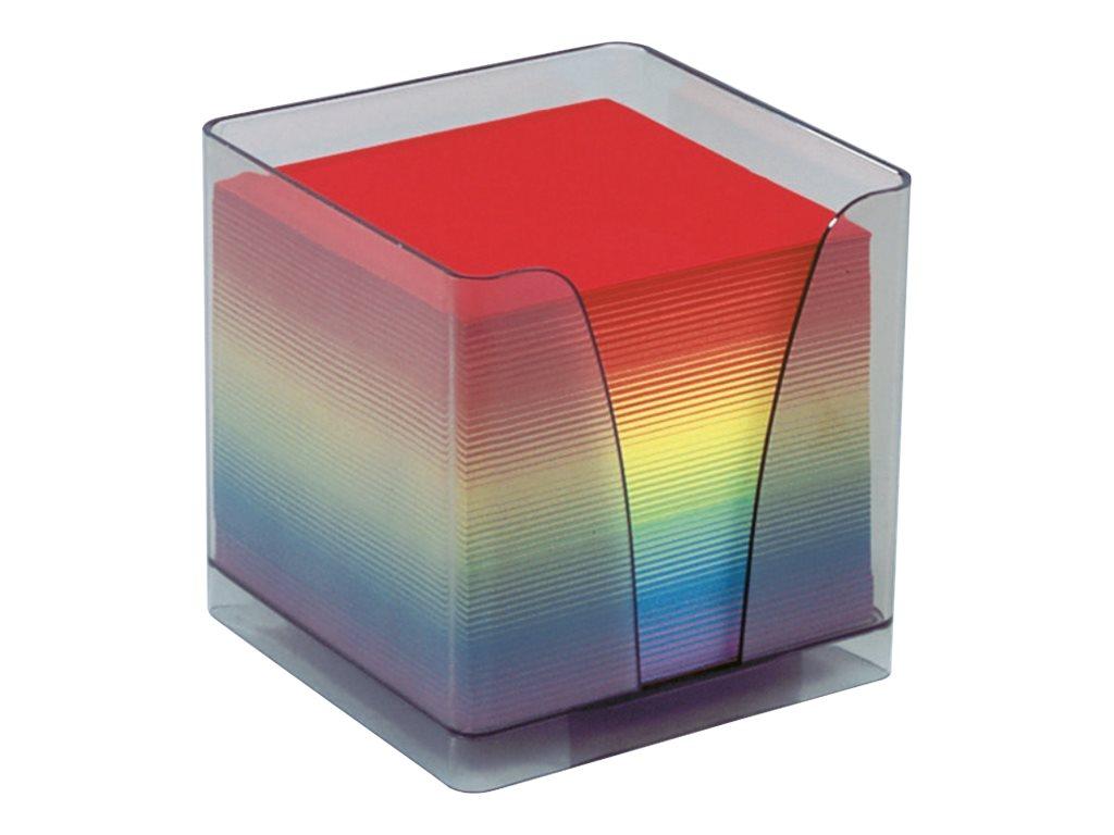 Quo Vadis - Bloc Cube avec support plexi - arc en ciel
