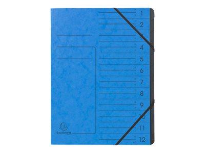 Exacompta Clean'Safe - Trieur 12 positions - couverture bleue