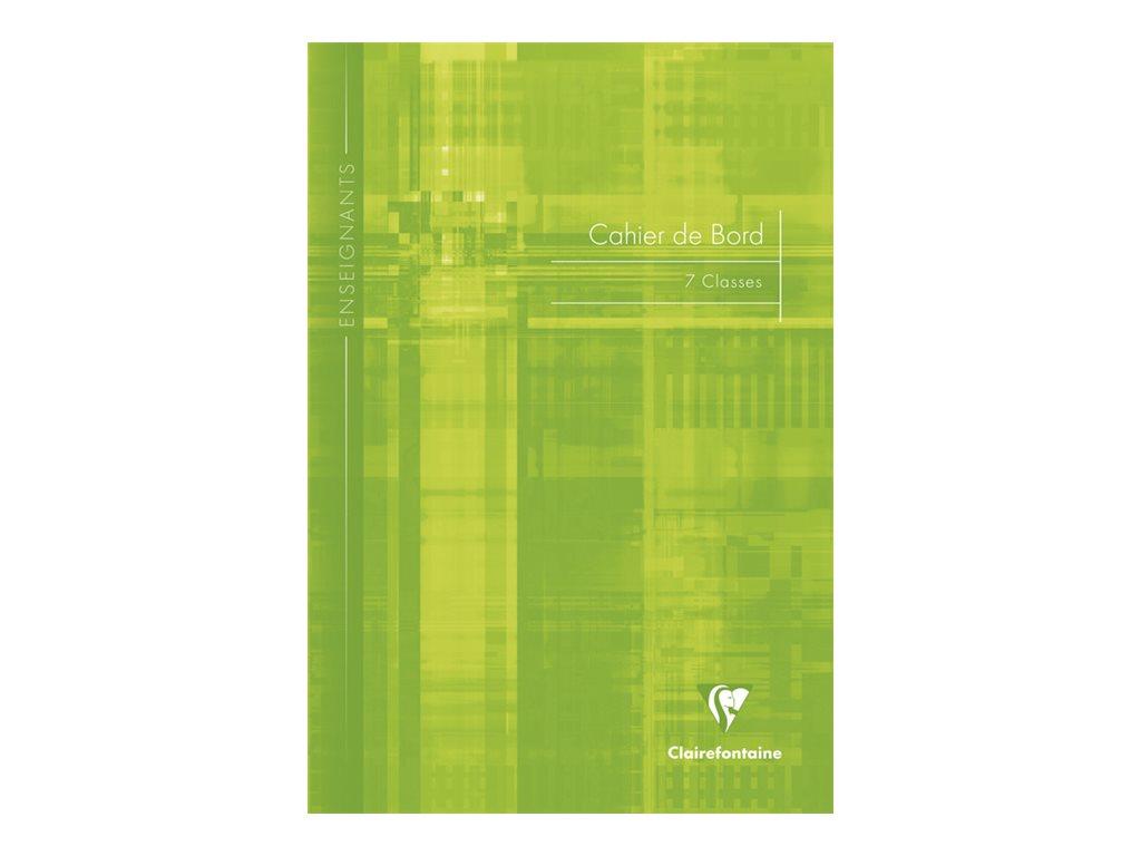 Clairefontaine - Carnet de bord enseignant (7 classes) - A4 - 48 pages - disponible dans différentes couleurs