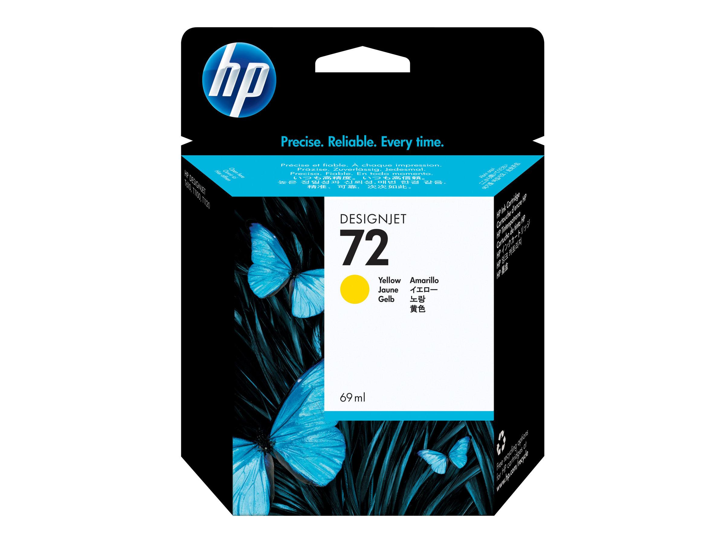HP 72 - jaune - cartouche d'encre originale