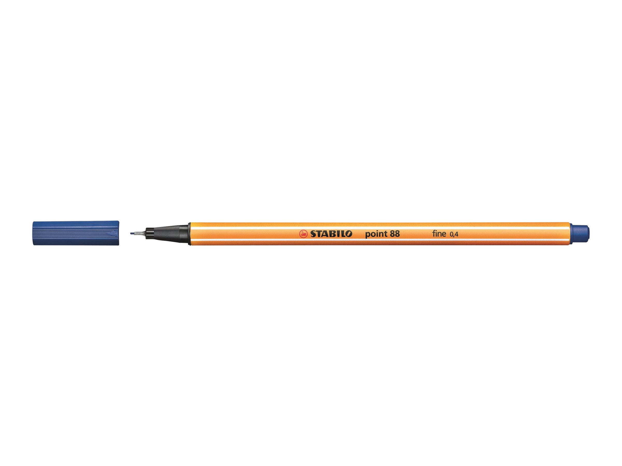 STABILO point 88 - Feutre fin - 0.4 mm - bleu
