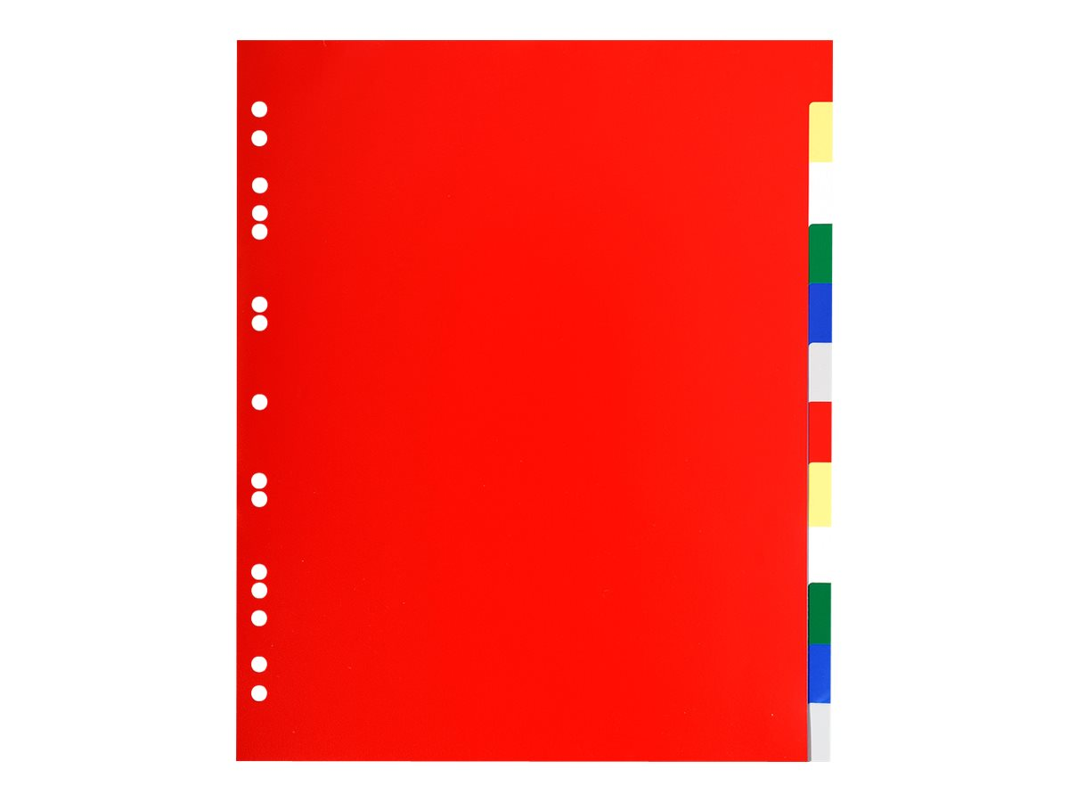 Exacompta - Intercalaire 12 positions - A4 Maxi - polypropylène coloré