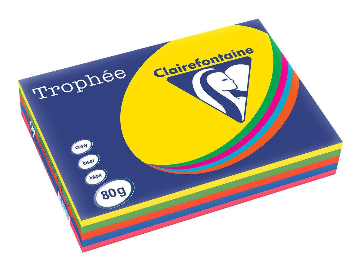 Clairefontaine Trophée - Papier couleur - A3 (297 x 420 mm) - 80 g/m² - 500 feuilles - coloris assortis