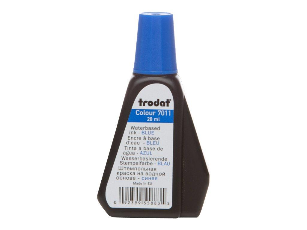 Trodat - Encre pour tampon - bleu - 28 ml