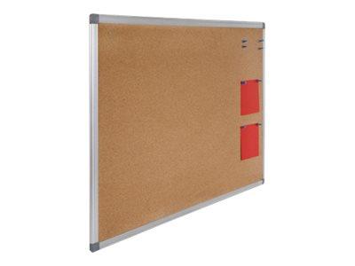 Juvénilia - Tableau d'affichage en liège 90 x 120 cm - cadre alu