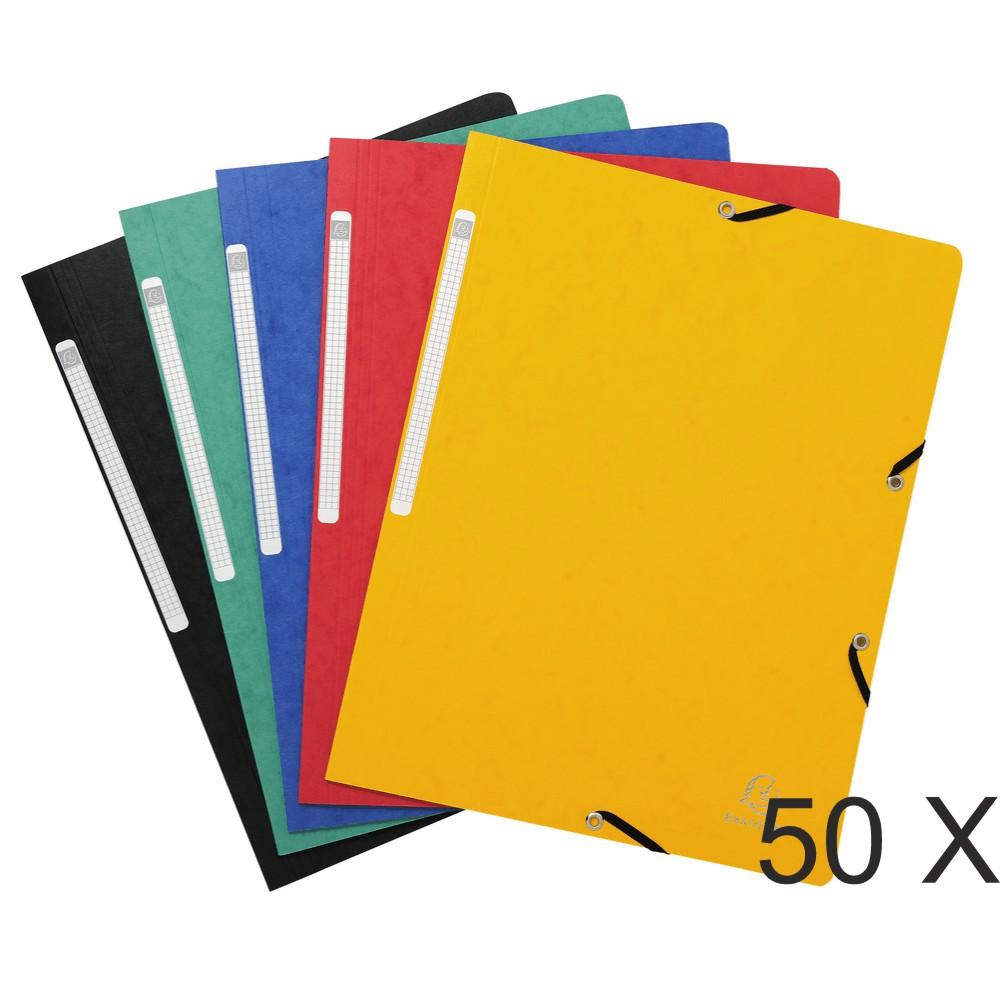 Exacompta - 50 Chemises sans rabat - A4 - couleurs assorties