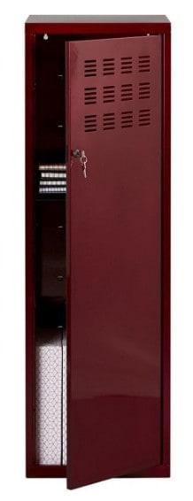 Casier de bureau avec pieds - 133 x 40 x 40 cm - rouge vernis