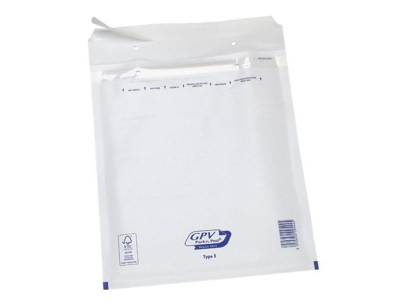 GPV Pack'n Post - 100 Pochettes bulles - 210 x 265 mm - bande de protection