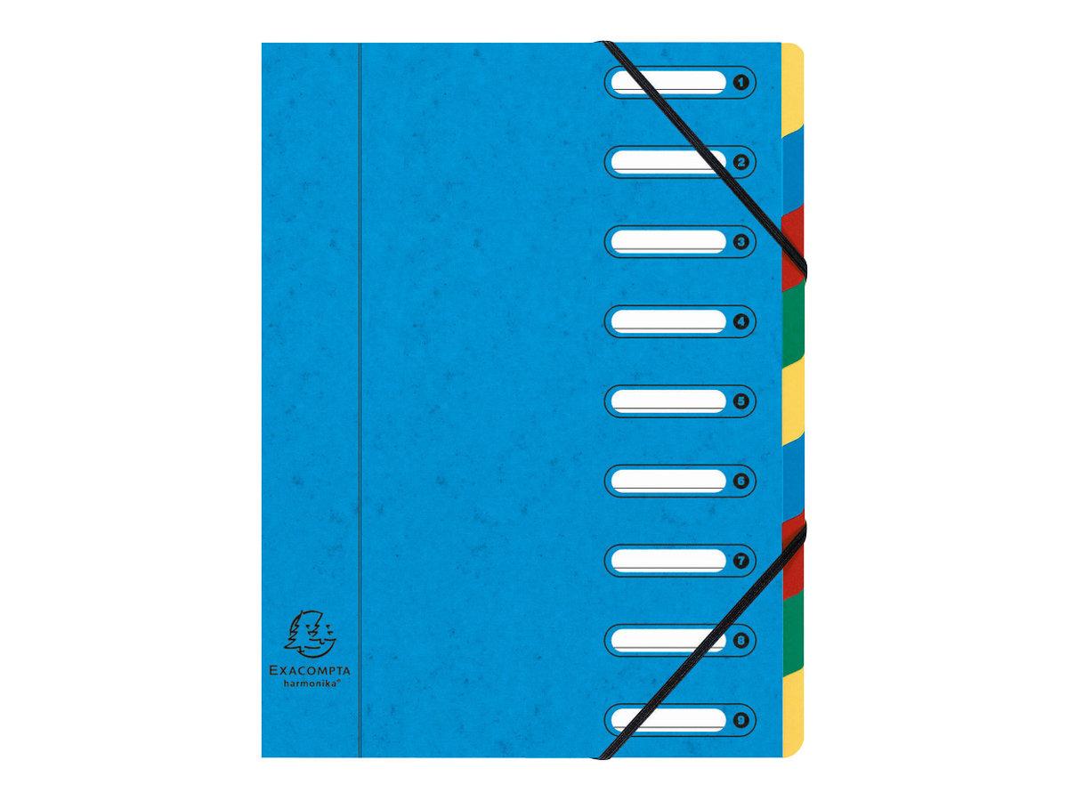 Exacompta Harmonika - Trieur à fenêtres 9 positions - disponible dans différentes couleurs