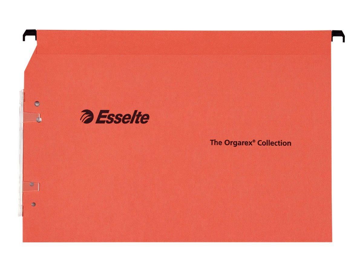 Esselte Kori - 25 Dossier suspendus pour armoires - orange - fond 30 mm