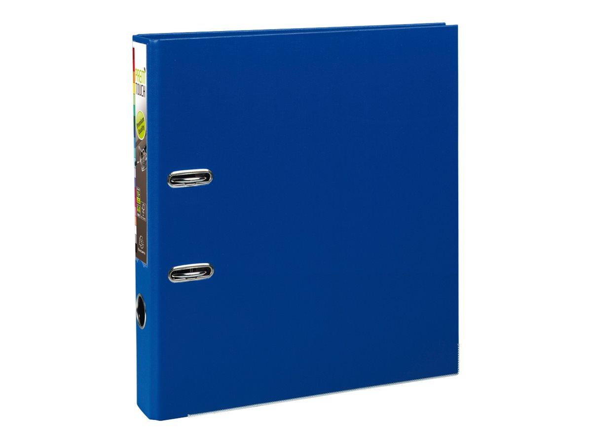 Exacompta Prem'Touch - Classeur à levier - Dos 50 mm - A4 Maxi - pour 400 feuilles - bleu foncé