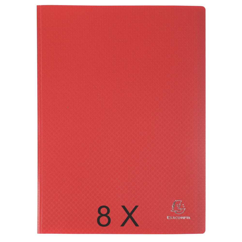 Exacompta Opak - 8 Porte vues - 160 vues - A4 - rouge
