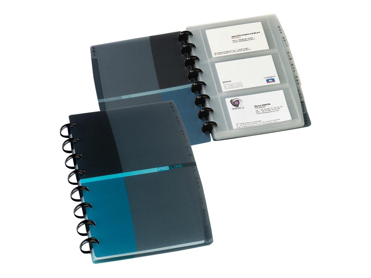 Proline - porte-cartes de visite rechargeable - pour 84 cartes - bleu