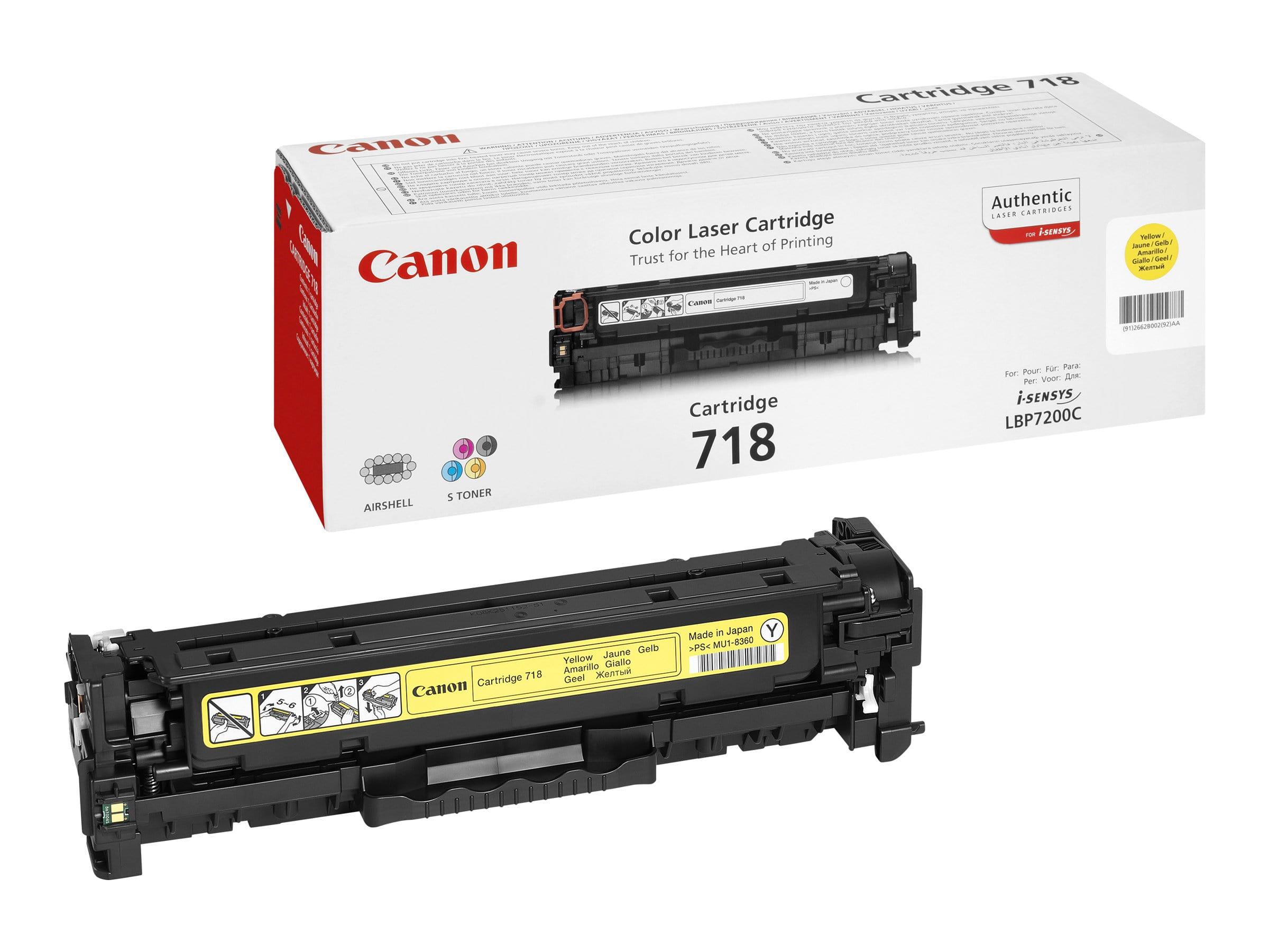 Canon 718 - jaune - cartouche laser d'origine