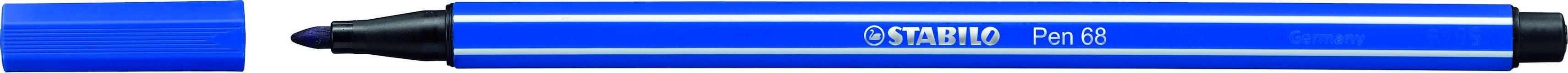 STABILO Pen 68 - feutre  pointe moyenne - Bleu outre mer