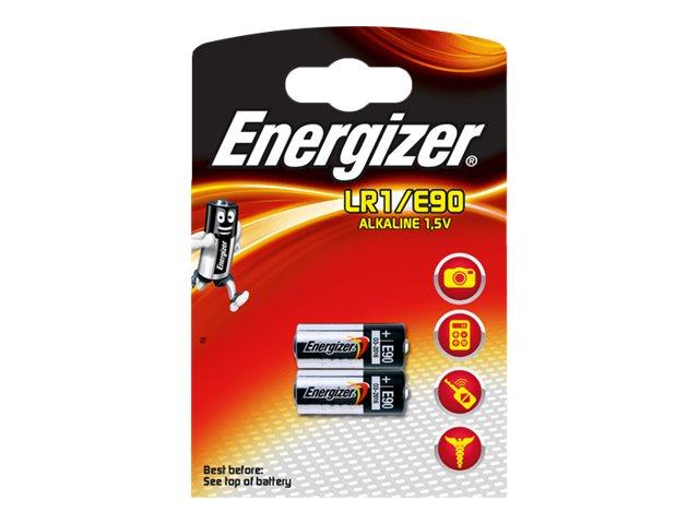 ENERGIZER LR1/E90 - 2 piles alcalines - 1,5V