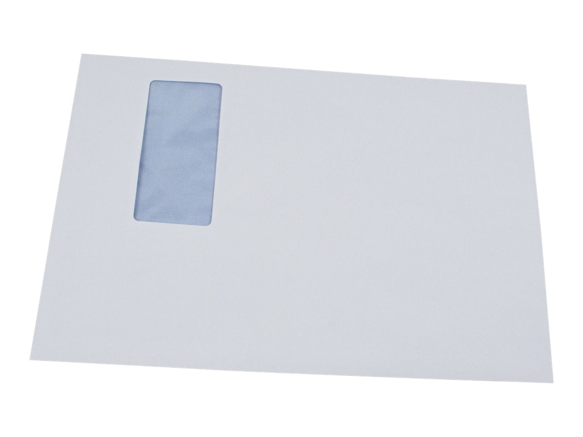 GPV - 250 Pochettes Enveloppes C4 229 x 324 mm - 90 gr - fenêtre 50x100 mm - blanc - bande adhésive