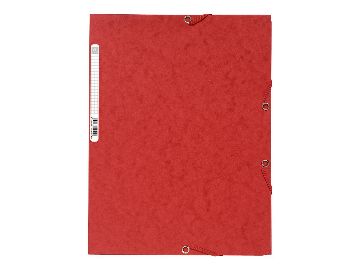 Exacompta Nature Future - Chemise à 3 rabats - A4 - pour 250 feuilles - rouge