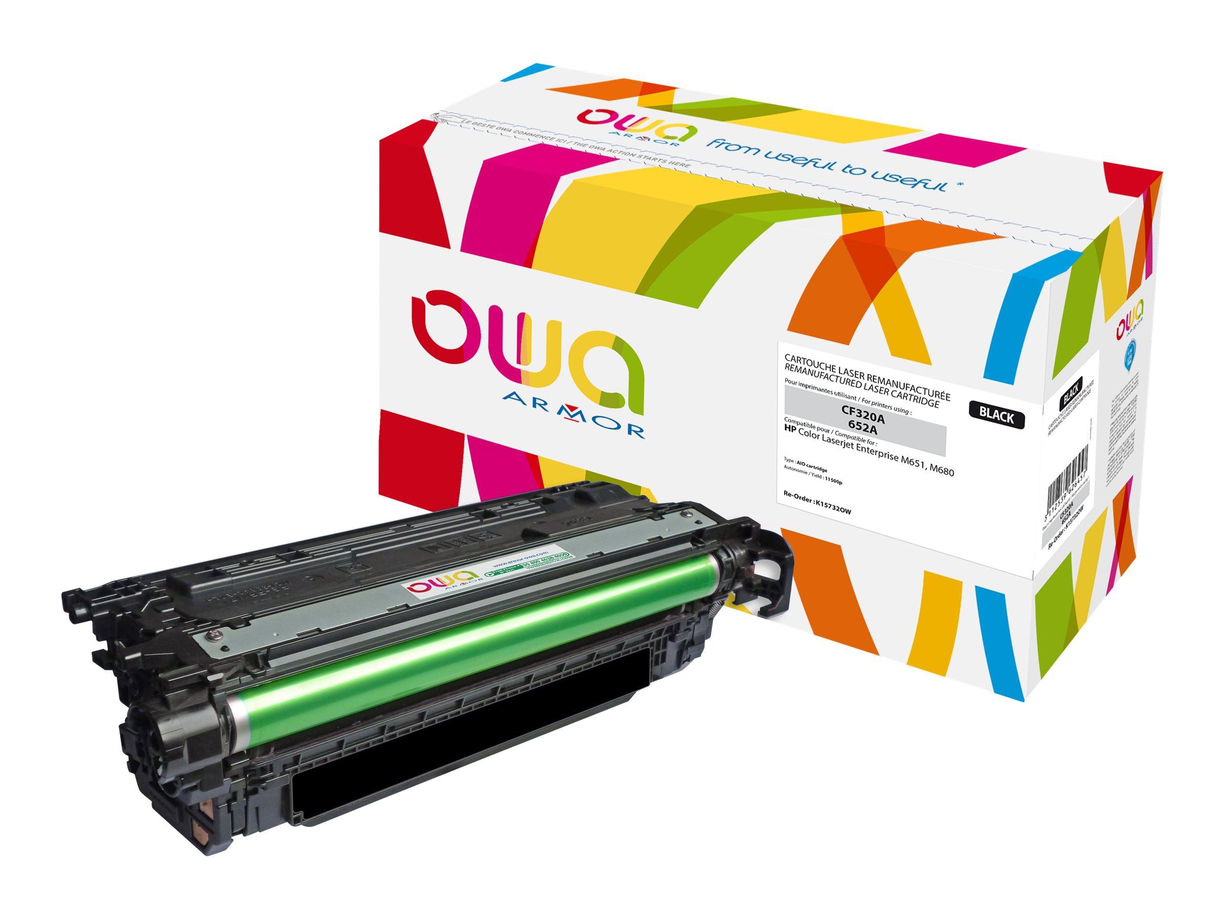 HP 652A - remanufacturé Owa K15732OW - noir - cartouche laser