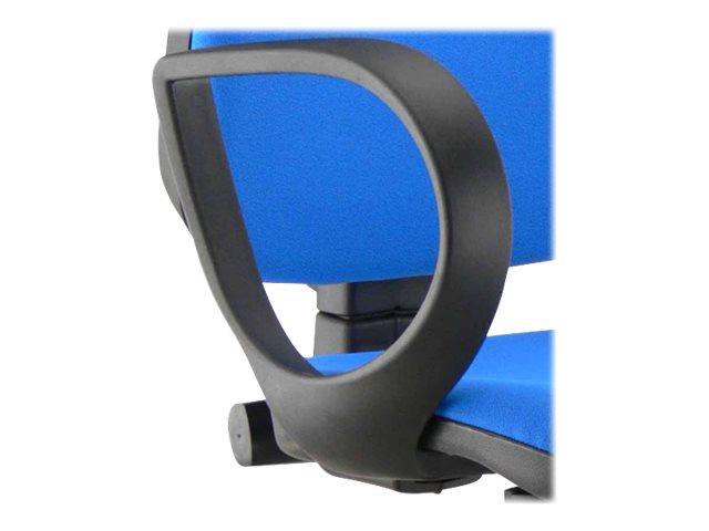 Paire d'accoudoirs fixes pour fauteuil TORINO - noir