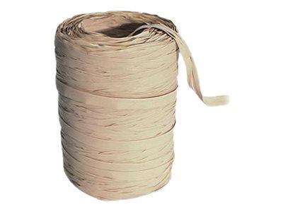 Maildor - Pelote de raphia synthétique - ruban d'emballage 100 m - ivoire