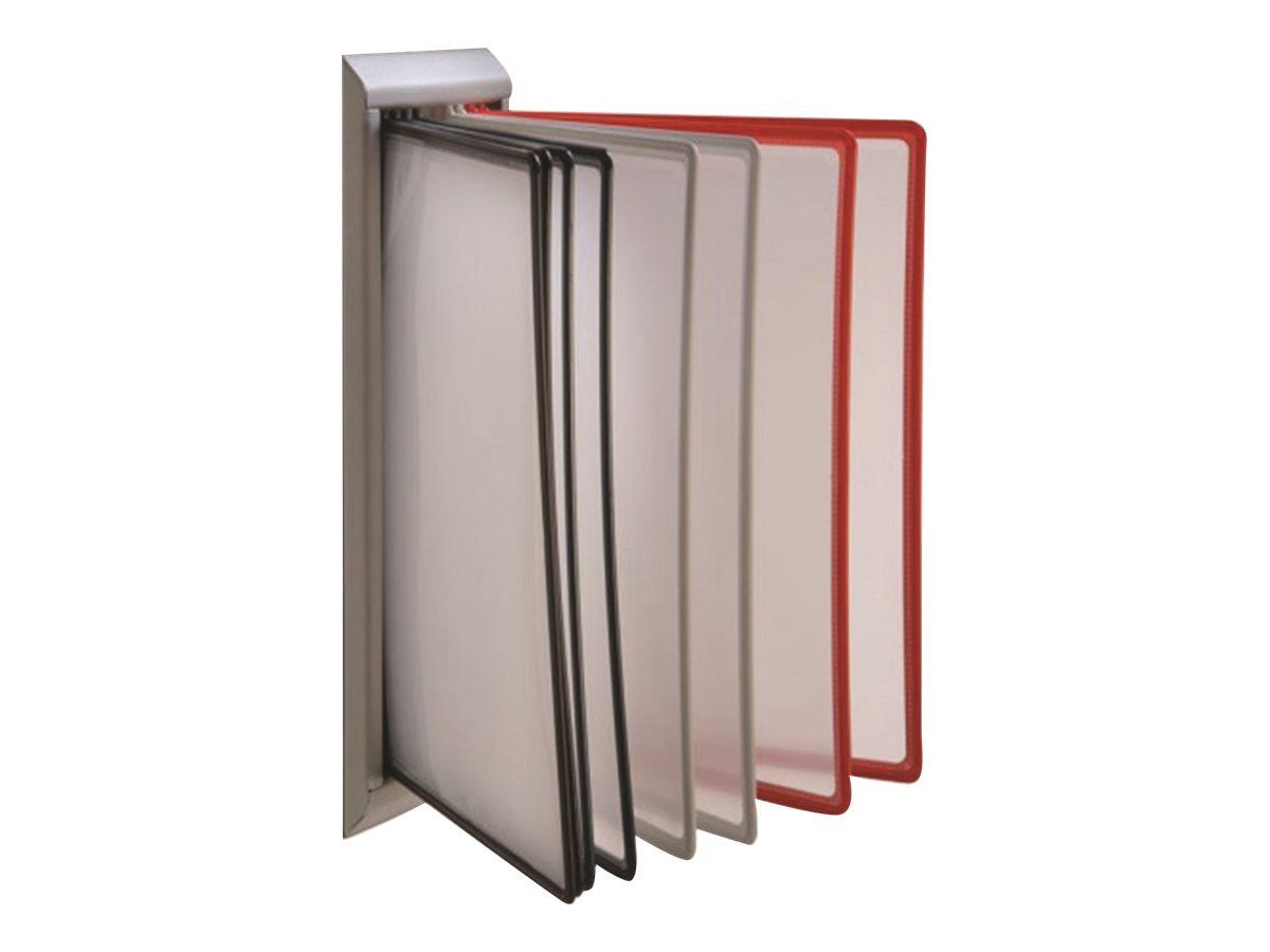 Promocome - Lutrin de comptoir mural plastique - fourni avec 10 pochettes A4 multi-coloris