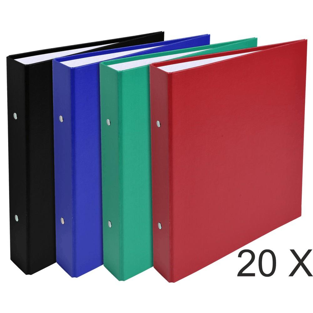 Exacompta - 20 Classeurs 2 anneaux - Dos 40 mm - A5 - disponible dans différentes couleurs