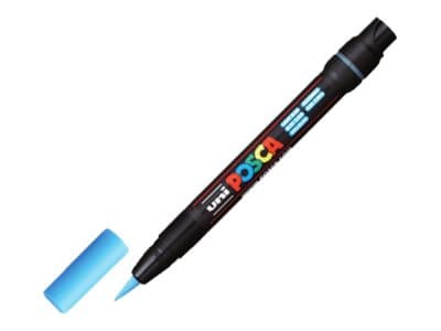 Posca - feutre pinceau pointe souple - Bleu clair