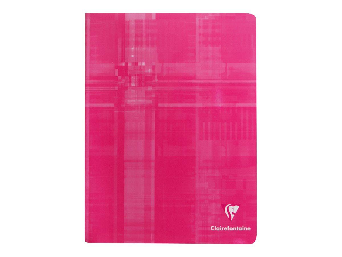 Clairefontaine - Cahier 17 x 22 cm - 96 pages - grands carreaux (Seyes) - disponible dans différentes couleurs