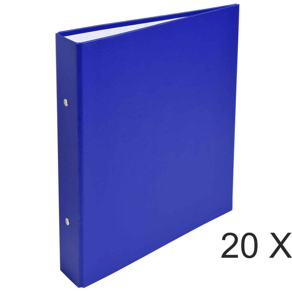 Exacompta - 20 Classeurs 2 anneaux - Dos 40 mm - A5 - bleu