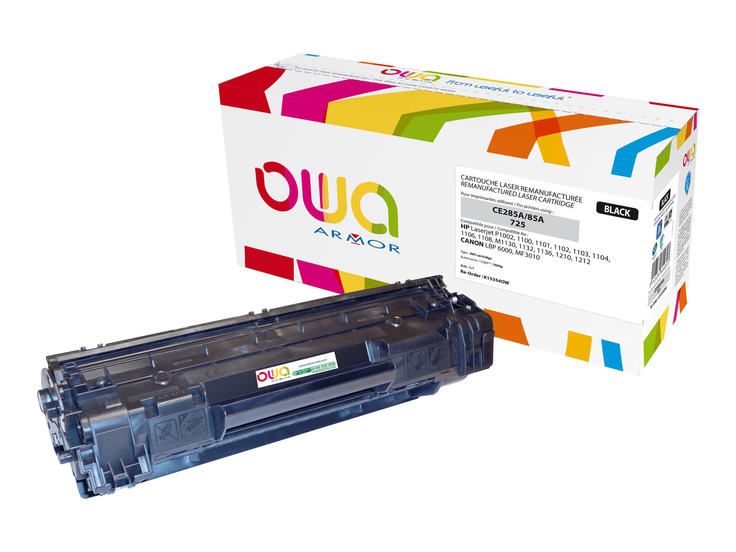 Owa K15354OW cartouche équivalente HP 85A - noir