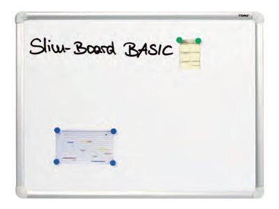 DAHLE - Tableau blanc laqué 60 x 90 cm - magnétique - cadre alu renforcé