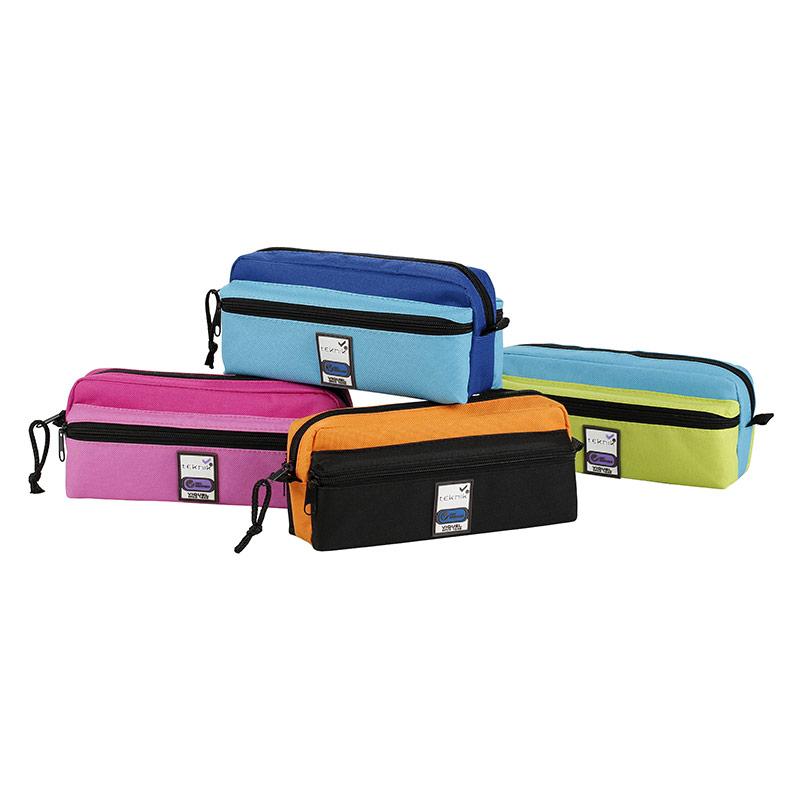 Trousse rectangulaire Teknik Triple - 3 compartiments - 4 coloris disponibles - Viquel