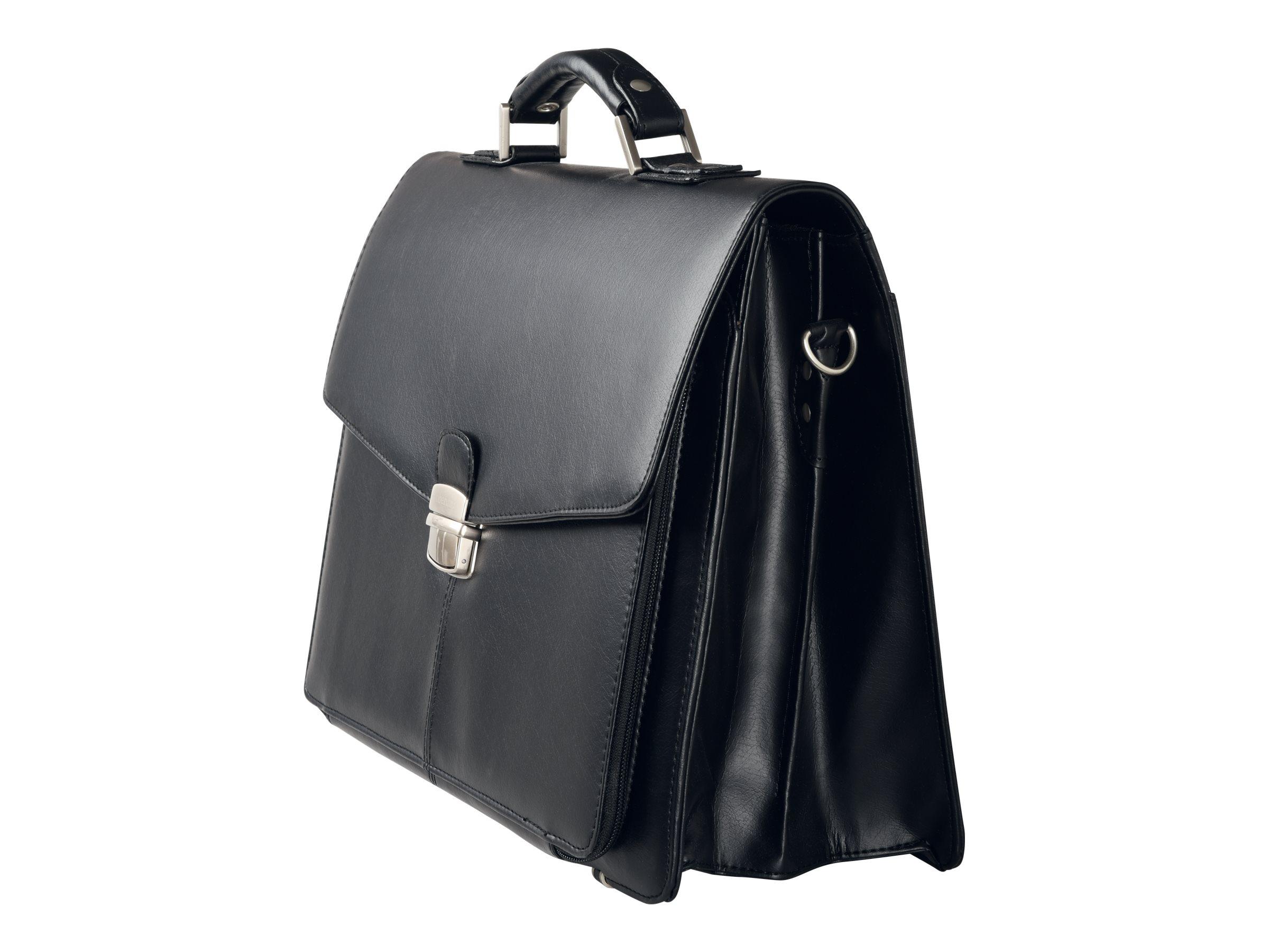 Oberthur Vancouver - Cartable rigide 2 compartiments - noir