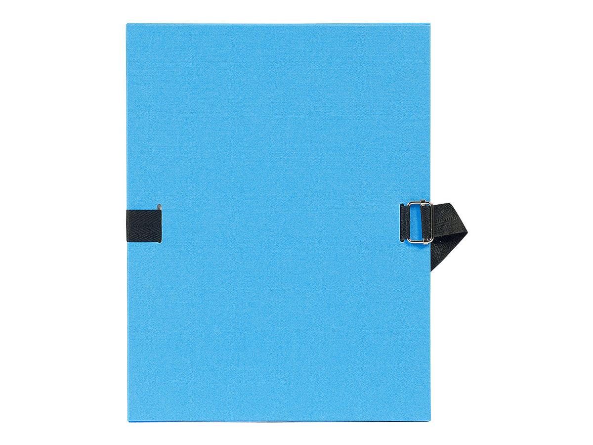 Exacompta - Chemise à sangle - bleu