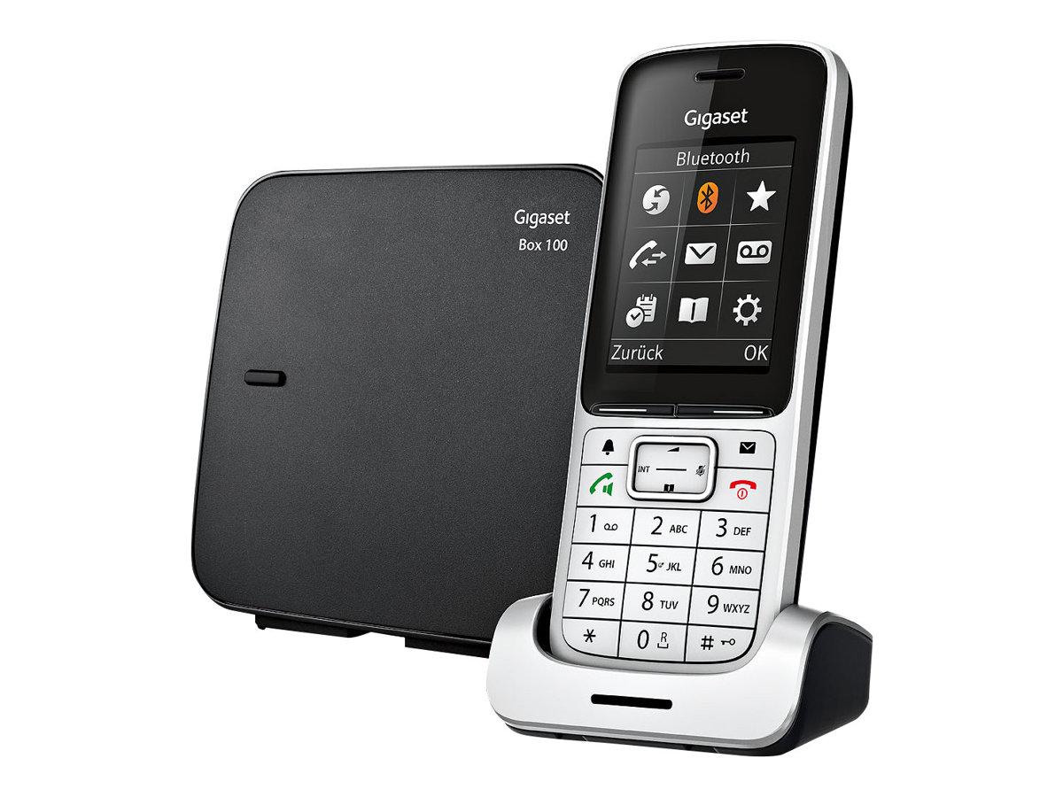 Gigaset SL450 - téléphone sans fil - avec écran couleur - noir