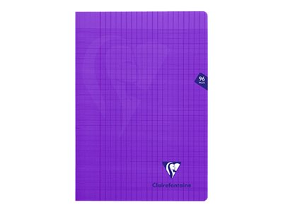Clairefontaine Mimesys - Cahier polypro A4 (21x29,7 cm) - 96 pages - grands carreaux (Seyes) - violet