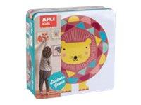 Apli Kids - Boîte métallique jeu de gommettes - lion