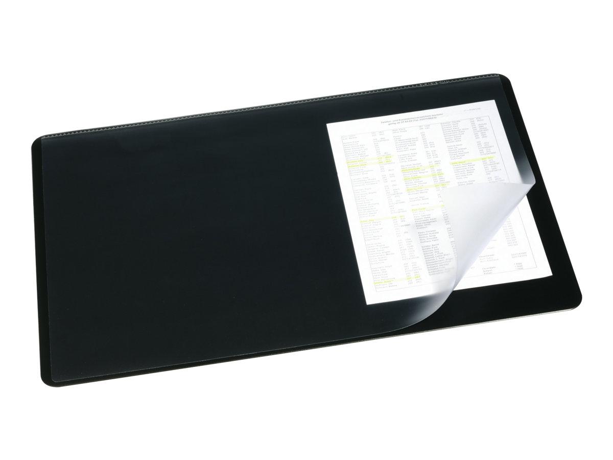 Durable - Sous-main avec rabat transparent - noir