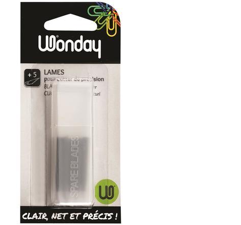 Wonday - 5 lames de coupe pour cutter de précision