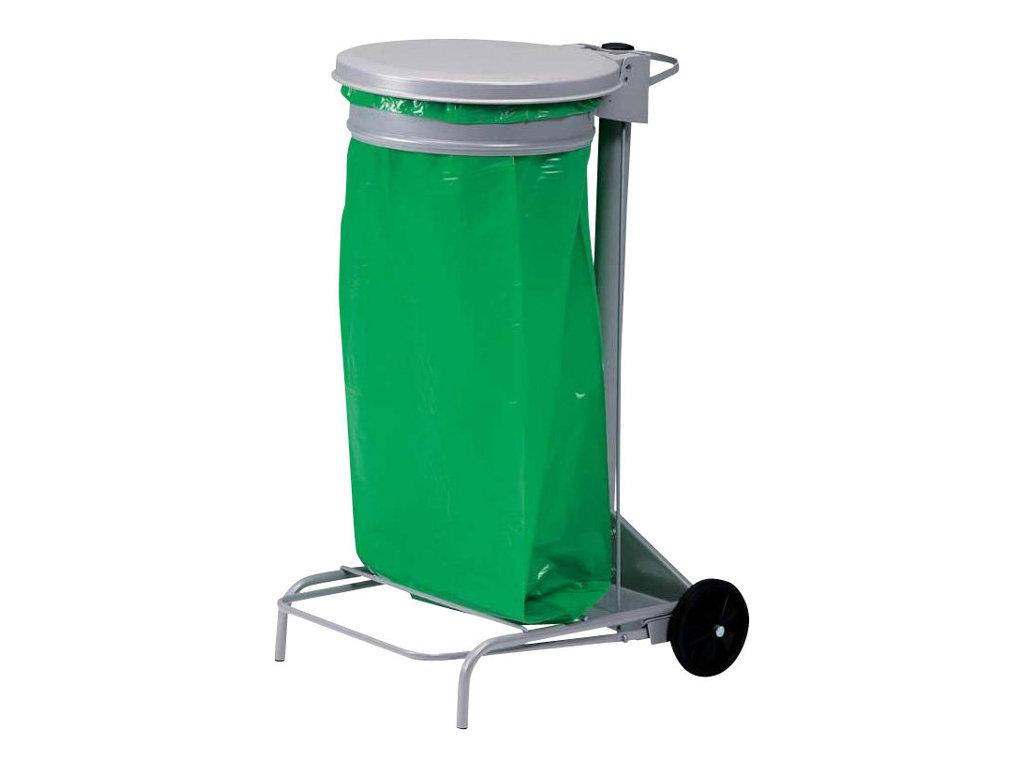 Rossignol by CEP - Support à pédale gris pour sacs poubelle 110L