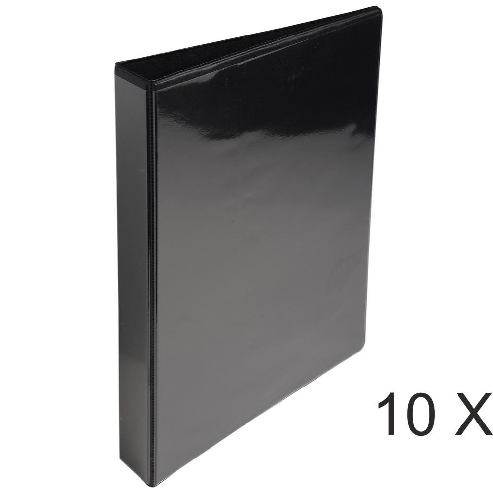 Exacompta Kreacover - 10 Classeurs 2 anneaux personnalisable - Dos 47 mm - A4 Maxi - noir - 3 poches extérieures