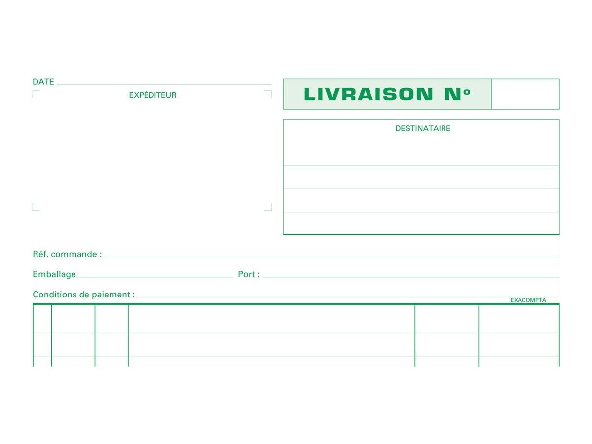 Exacompta - Manifold Carnet de livraisons - 50 tripli - A4