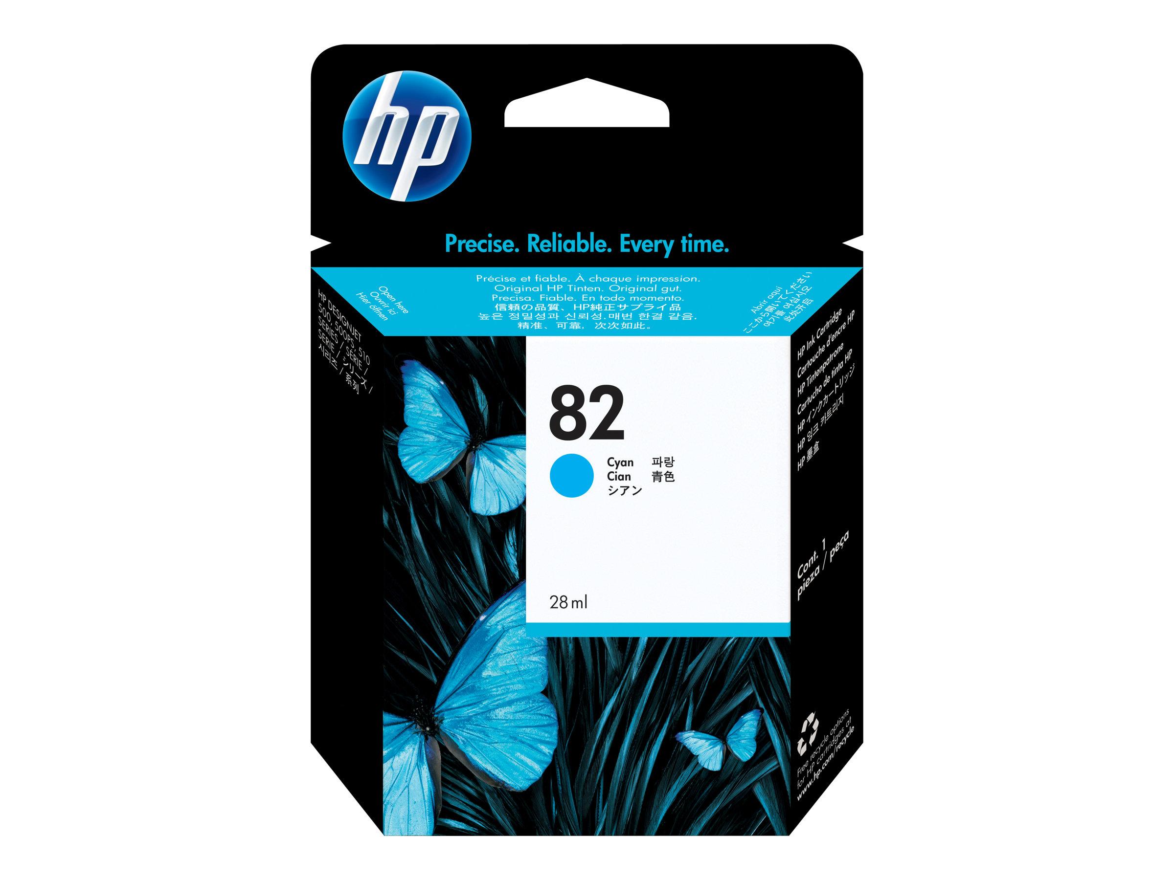HP 82 - Cyan - cartouche d'encre originale