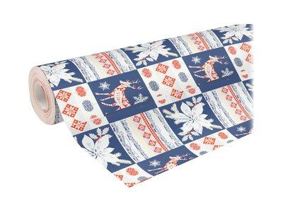 Clairefontaine Alliance - Papier cadeau - 70 cm x 50 m - 60 g/m² - motif patchwork Noël